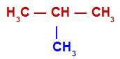 Cadeia aberta com pelo menos três carbonos primários