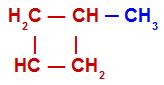 Cadeia fechada com pelo menos um carbono primário