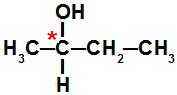 Cadeia que apresenta um átomo de carbono quiral