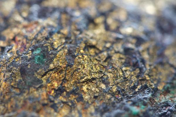 A calcopirita é um minério que contém cobre.