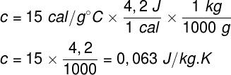 Cálculo do calor específico -parte 2 – exercício 2
