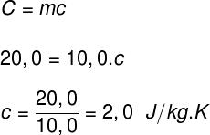 Cálculo do calor específico