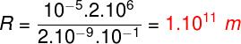 Cálculo do raio da trajetória – exercício 2