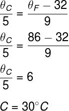Cálculo da temperatura – exercício 1