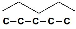 Representação de carbonos na fórmula estrutural.