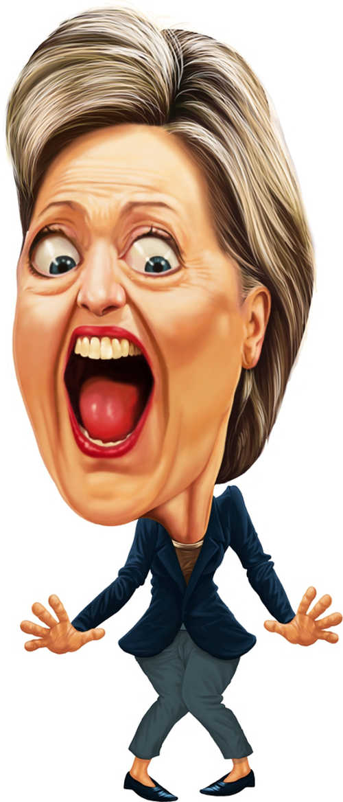 Caricatura de Hillary Clinton, ex-candidata à Presidência dos Estados Unidos *