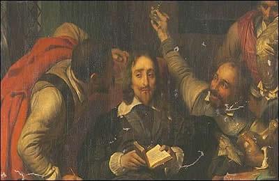Carlos I insultado por soldados de Cromwell, de Paul Delaroche (1797-1856)