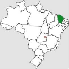 Localização do Ceará no mapa do Brasil