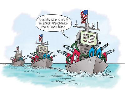 Charge sobre a ajuda militar em direção à Líbia