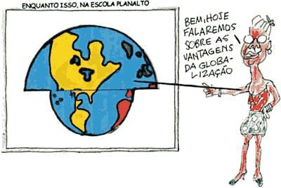Charge sobre Globalização