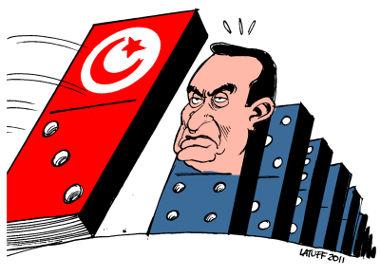 Charge sobre a Primavera Árabe no Egito