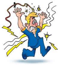 O corpo humano é bastante vulnerável às correntes elétricas.
