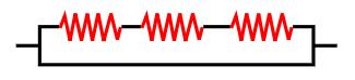 Na associação em série, a corrente elétrica é igual para todos os resistores.