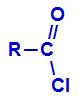 Fórmula estrutural de um cloreto de ácido orgânico