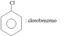 Estrutura e nomenclatura do clorobenzeno