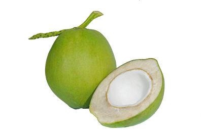 O coco é um exemplo de fruto do tipo drupa, que apresenta mesocarpo fibroso