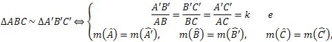 Condições para semelhança de dois triângulos