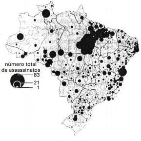 Mapa dos conflitos no campo no Brasil