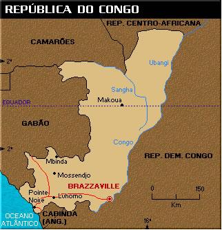 Localização do Congo