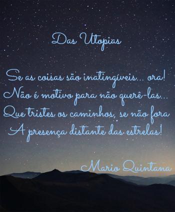 """""""Das Utopias"""" faz parte do livro Espelho Mágico, publicado em 1945"""
