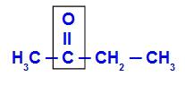 Delimitação da carbonila e consequente visualização dos radicais