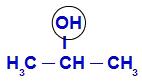 Demarcando o OH no Propan-2-ol