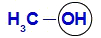 Exemplo de demarcação do grupo hidroxila na cadeia do álcool
