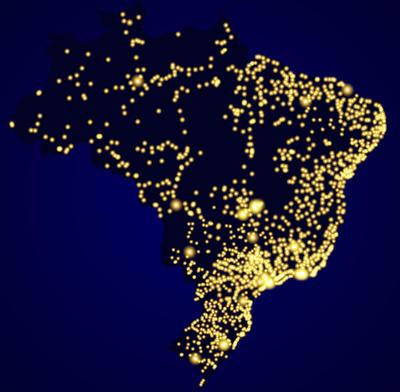 A população brasileira encontra-se, em maior parte, nas áreas litorâneas do território
