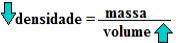 Relação entre densidade e volume dos gases – inversamente proporcionais