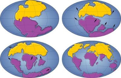 A evolução da deriva continental terrestre