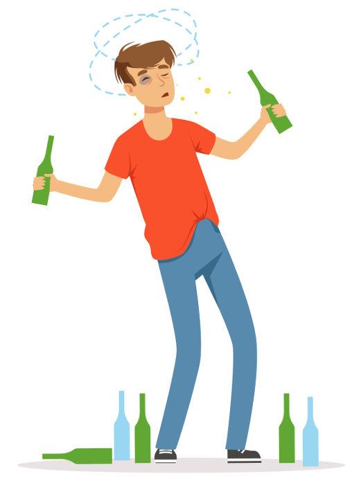 O desequilíbrio é gerado pela ação do álcool em receptores da substância dopamina