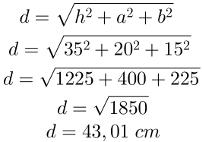 Diagonal do bloco retangular, questão 1