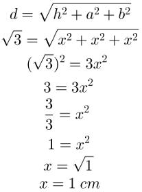 Diagonal do bloco retangular, questão 04