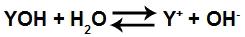 Equação de dissociação de uma base qualquer