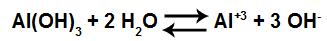 Equação de dissociação do hidróxido de alumínio