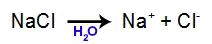 Equação de dissociação do NaCl
