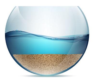 A dissolução fracionada pode ser utilizada em uma mistura formada por areia e NaCl