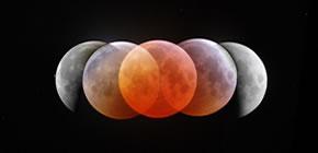 Fases do Eclipse da Lua