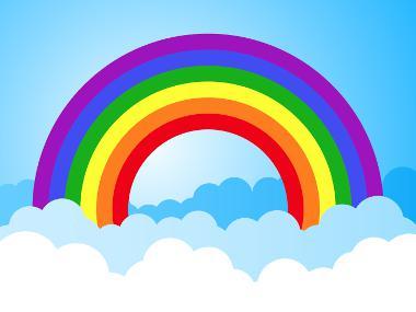 Los colores que forman el arcoíris son siete: rojo, naranja, amarillo, verde, azul, azul índigo y violeta