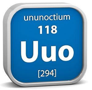 Sigla e dados do Ununoctium