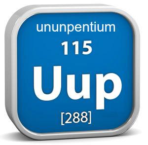 Sigla e dados do Ununpentium