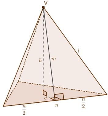 Pirâmide regular e alguns de seus elementos