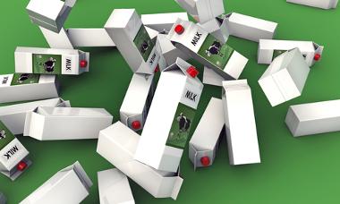 A grande quantidade de embalagens cartonadas descartadas agrava o problema do lixo