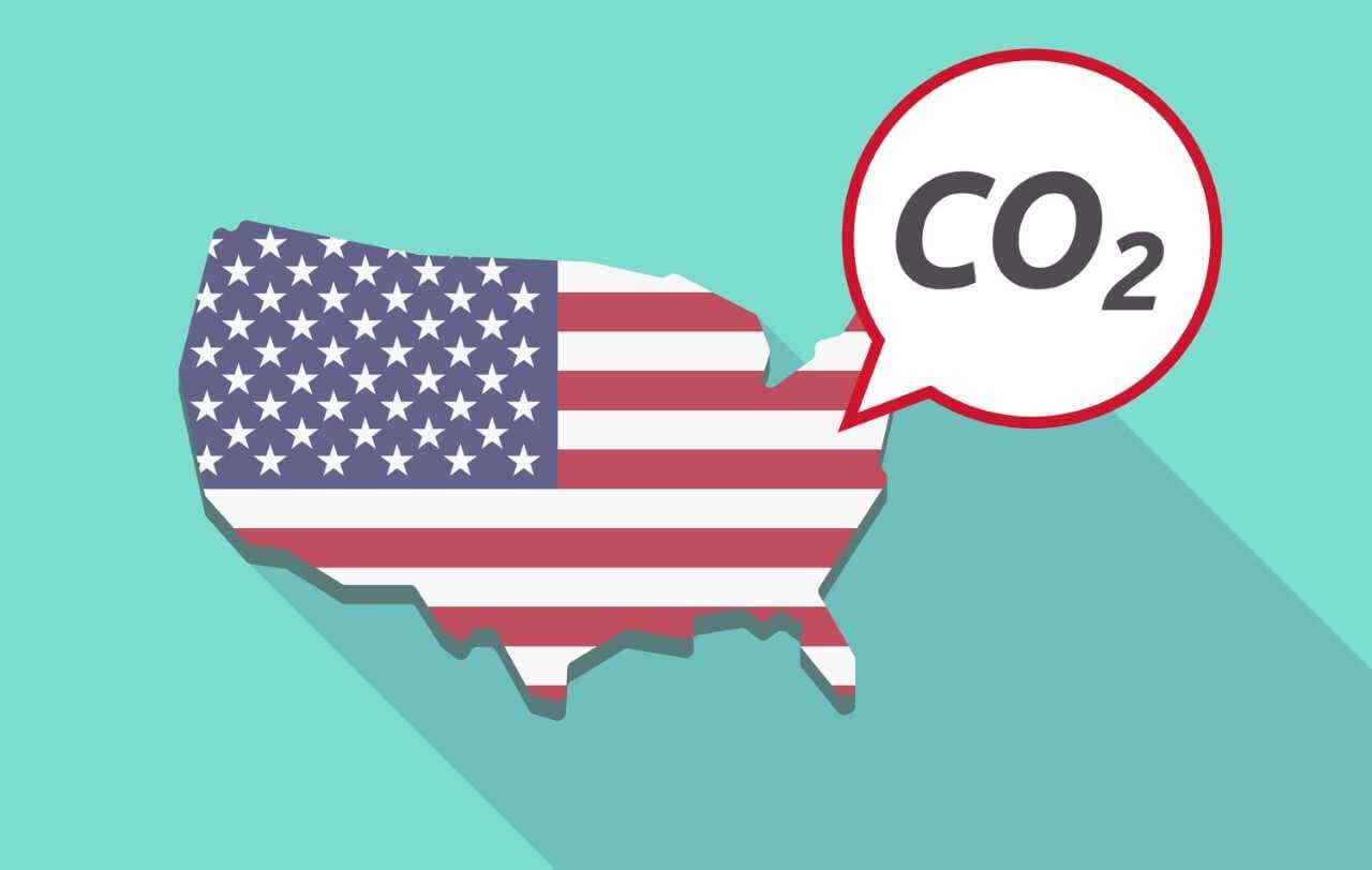 Os Estados Unidos são responsáveis por cerca de 52% das emissões de dióxido de carbono.