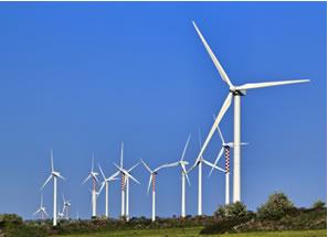 Turbinas de energia eólica em Sicília, Itália