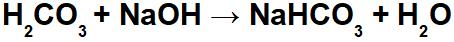 Equação de neutralização do ácido carbônico e hidróxido de sódio