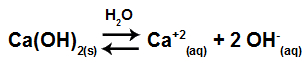 Equação de dissociação do Ca(OH)2