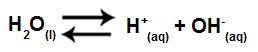 Equação simplificada da hidrólise para ácido e base fortes
