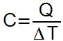 Fórmula da capacidade térmica