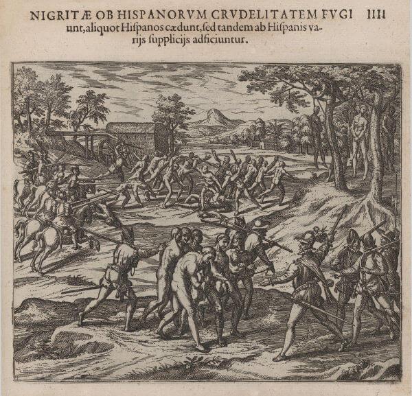 Os indígenas foram o primeiro grupo escravizado na América Portuguesa, e sua escravização foi definitivamente proibida em 1757.*